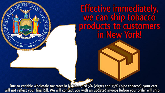 New York cigar shipping!